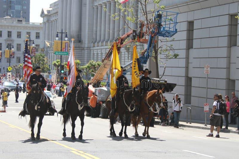 Czereśniowego okwitnięcia festiwal - Uroczysta parada San Fransisco zdjęcia royalty free