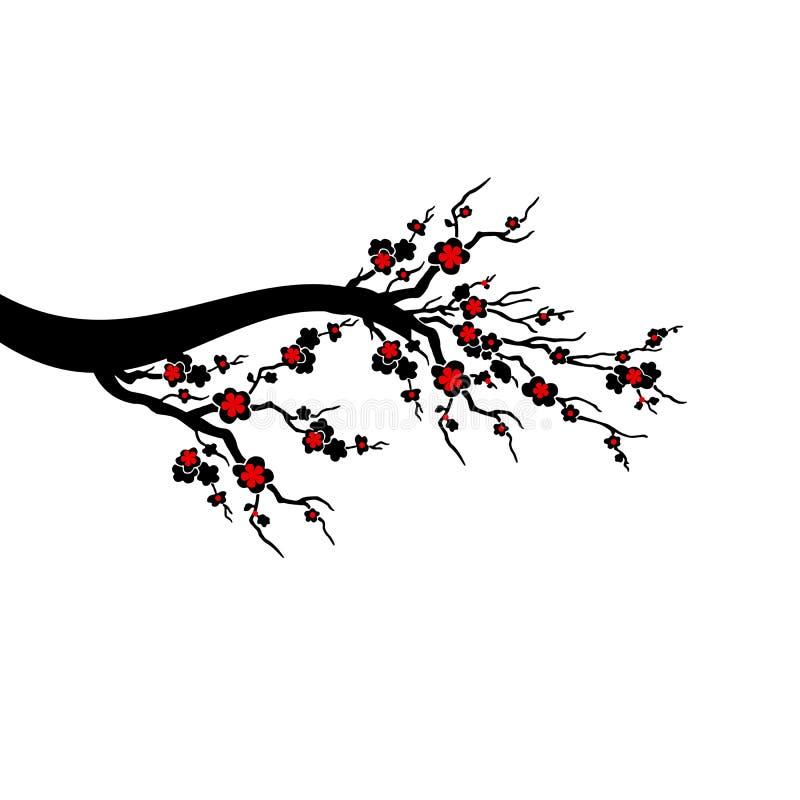 Czereśniowi okwitnięcia Drzewni ilustracja wektor