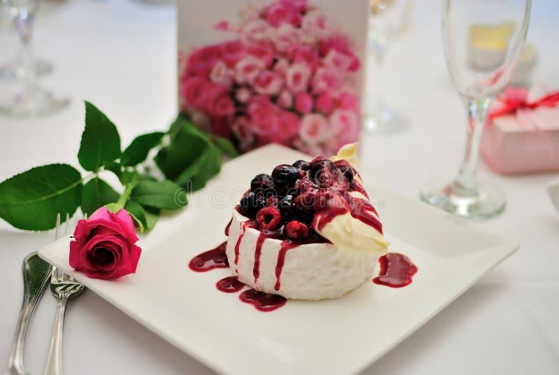 czereśniowy deserowy pudding zdjęcie royalty free