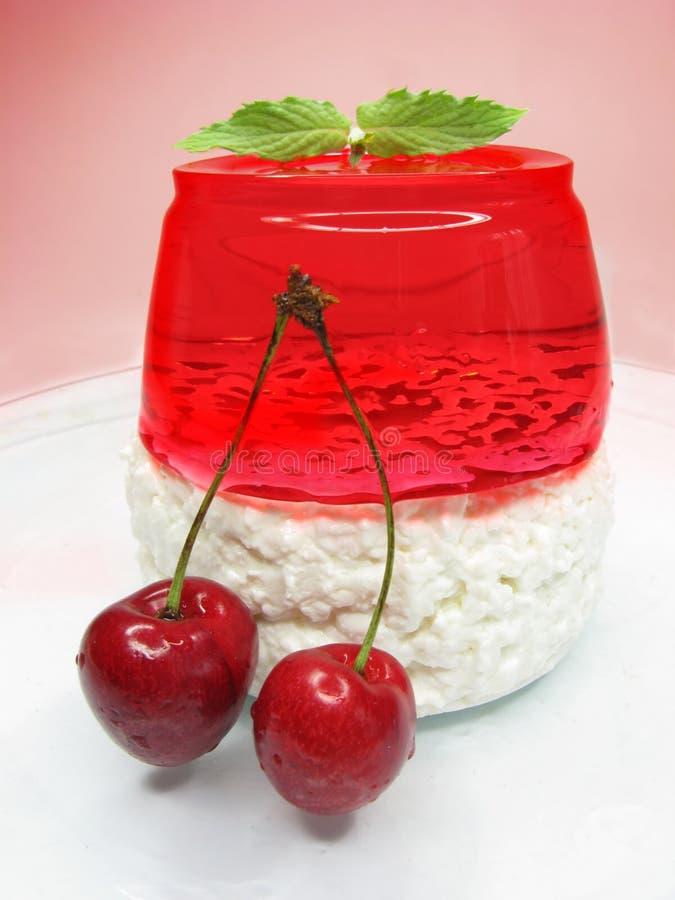 czereśniowy deseru galarety pudding fotografia stock