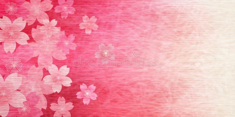 Czereśniowy ilustracyjny materiał ten imaged Japońska wiosna royalty ilustracja