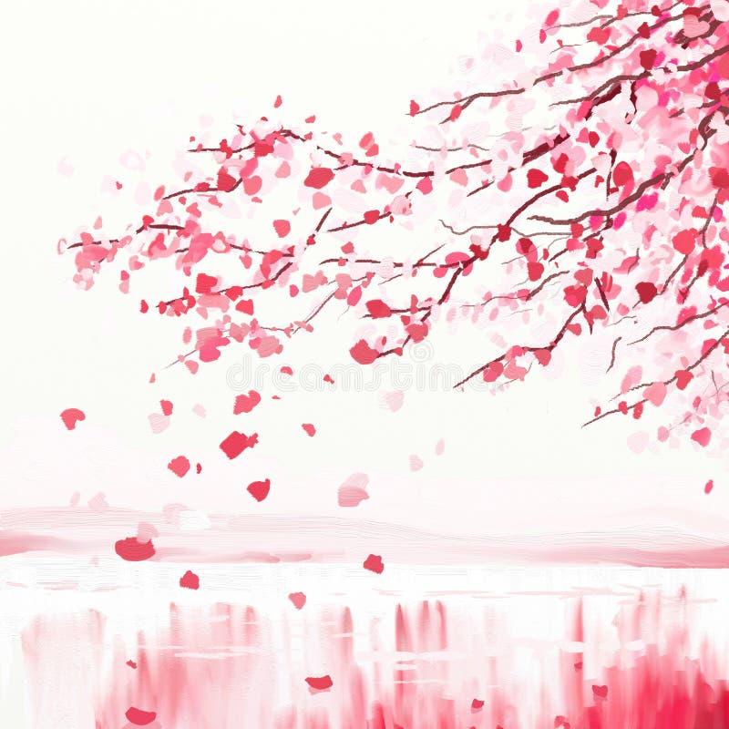 czereśniowy japoński drzewo ilustracja wektor