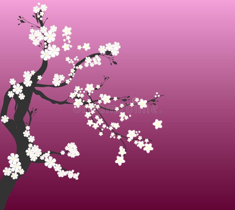 czereśniowy romantyczny drzewo ilustracja wektor