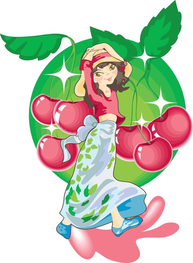 czereśniowy sok ilustracji