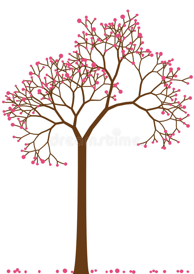 Download Czereśniowy drzewo ilustracja wektor. Ilustracja złożonej z liść - 13326450