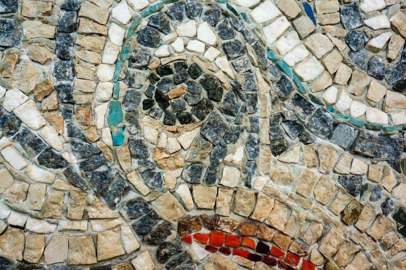 Czerep ściana mali barwioni kamienie Tekstura kamie? Pi?kny naturalny kolorowy t?o zako?czenie zdjęcia stock