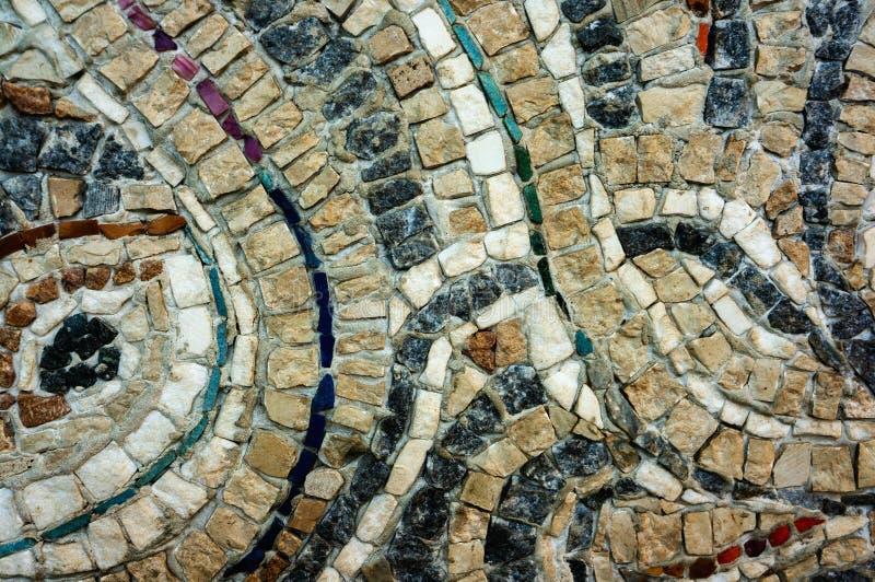 Czerep ściana mali barwioni kamienie Tekstura kamie? Pi?kny naturalny kolorowy t?o zako?czenie fotografia royalty free