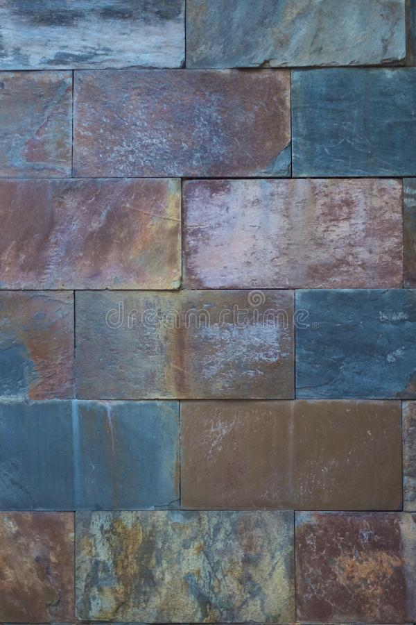 Czerep ściana od kamiennych bloków zdjęcie stock