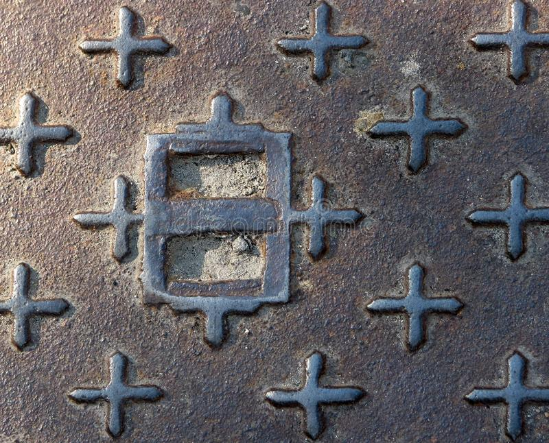 Czerep antyczny średniowieczny żelazo wzór z krzyżami obraz royalty free