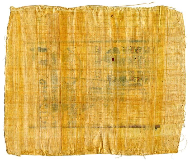 Czerep Antyczny Egipski papirus od Karnak ?wi?tyni, Thebes dolina, Luxor, Egipt Antykwarski manuskrypt, prze?cierad?o pergamin fotografia royalty free