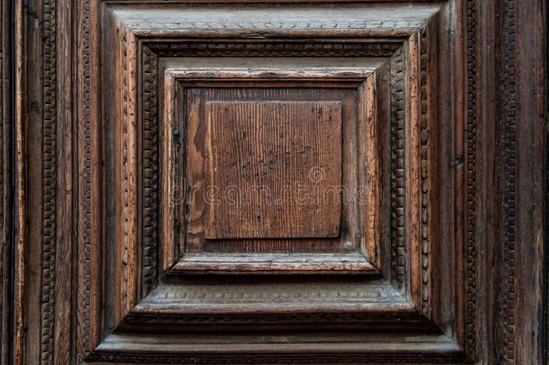 Czerep antyczny Wenecki drzwi robić bagno dąb Textured tło tekstura drewno obraz royalty free
