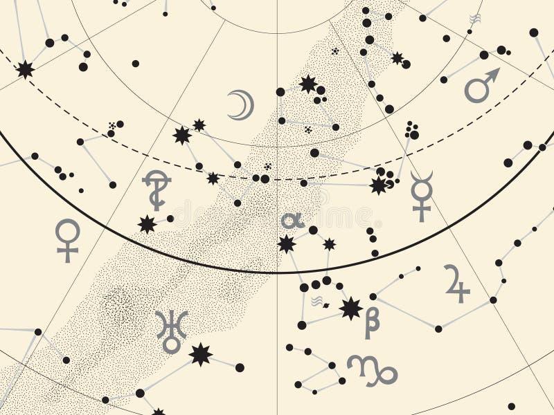 Czerep Astronomiczny Niebiański atlant royalty ilustracja