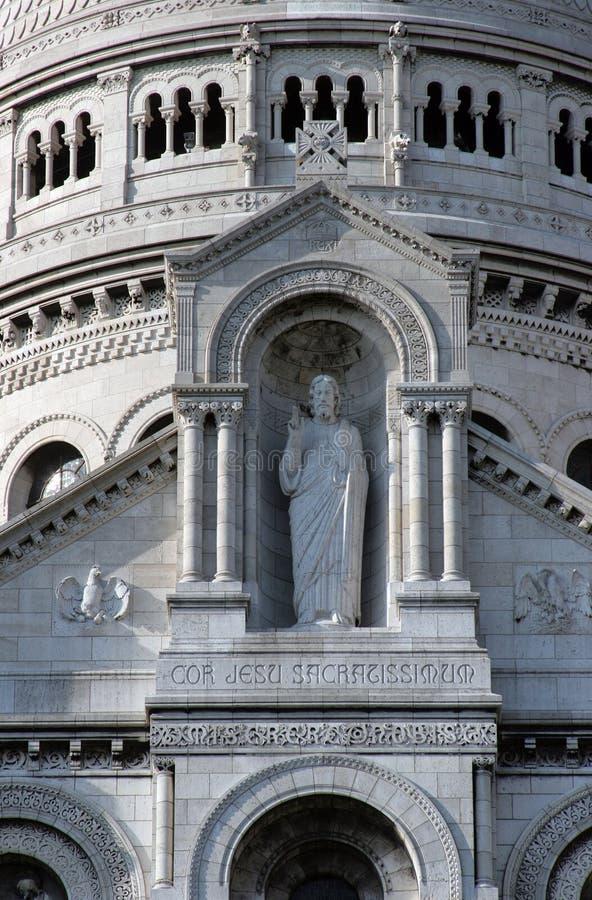 Czerep bazylika Święty serce, Paryż zdjęcie royalty free
