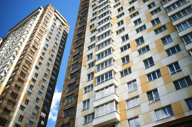 Czerep budynek mieszkaniowy zdjęcie stock
