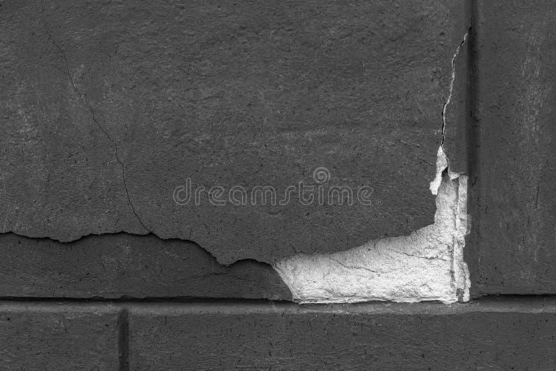 Czerep cementowa ściana z oryginalnym pęknięciem struktura Tło zdjęcia royalty free