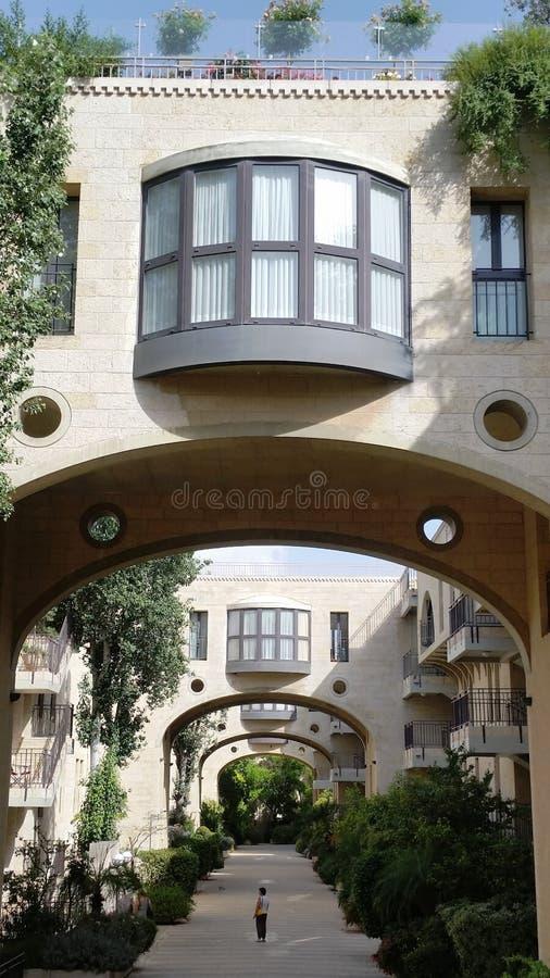 Czerep elita mieszkaniowy kwartalny David, Jerozolima, Izrael zdjęcie royalty free