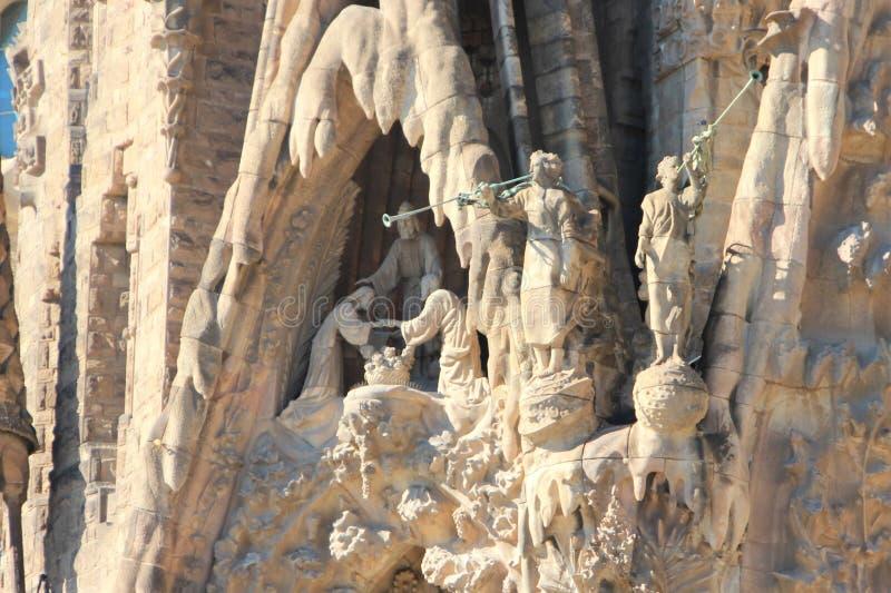 Czerep fasada katedra los angeles Sagrada Familia, robić podczas życia Gaudi obraz stock