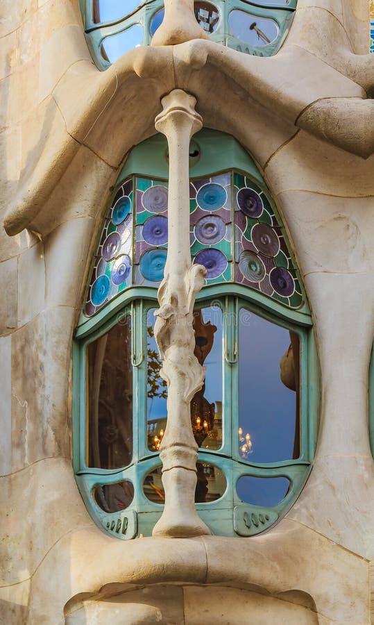 Czerep fasada sławny Casa Batllo, buduje desig obraz royalty free