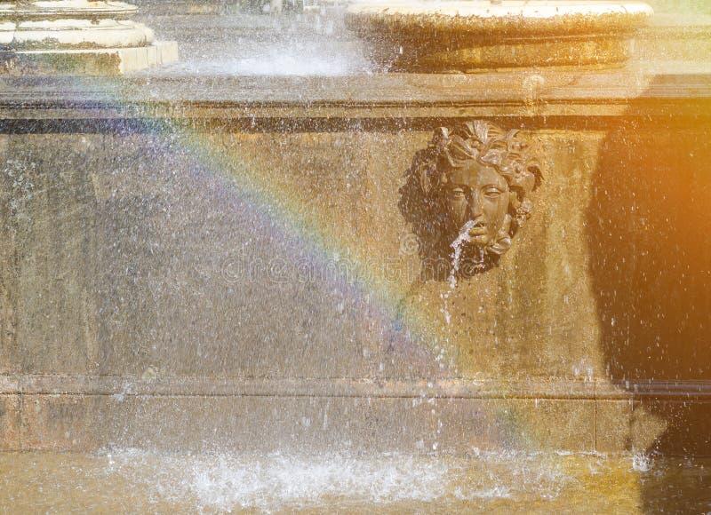 Czerep fontanna lwa kaskada Peterhof, St Petersburg, Rosja fotografia stock