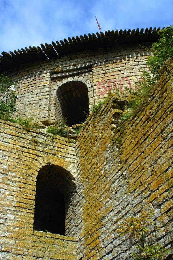 Czerep forteczna ściana obraz royalty free