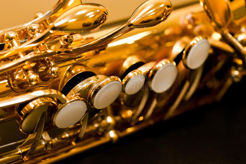 Czerep klapy saksofonowe zdjęcia stock