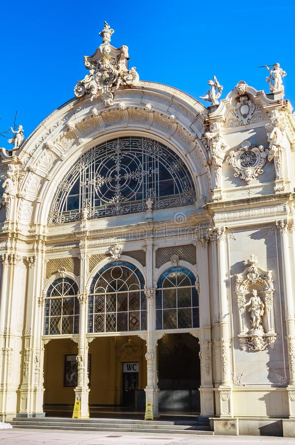 Czerep kolumnada w zdroju grodzki Marianske Lazne Marienbad C obrazy royalty free