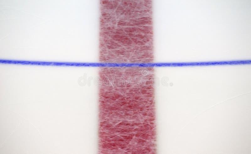 Czerep lodowego hokeja lodowisko z środkowym okręgiem Pojęcie, hokej fotografia stock
