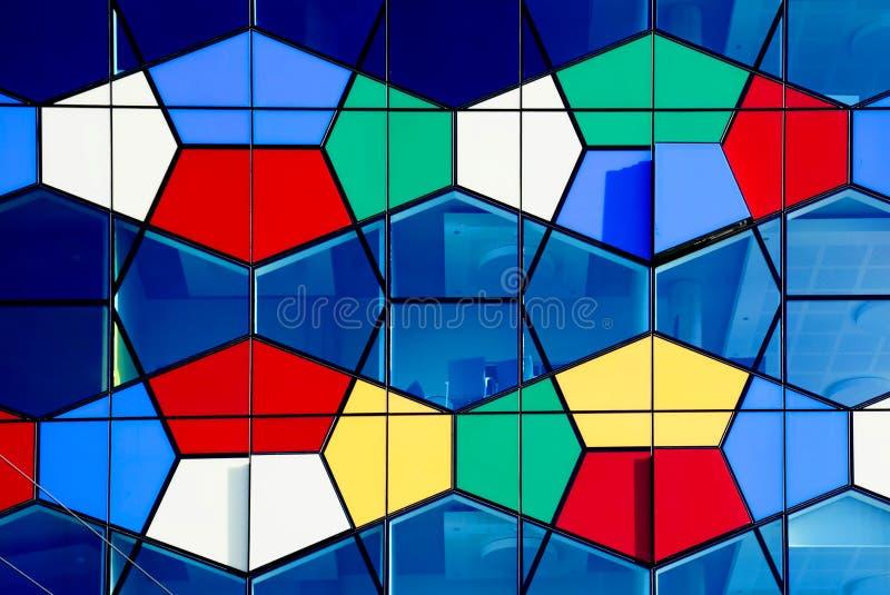 Czerep nowożytna colourful architektura zdjęcie stock