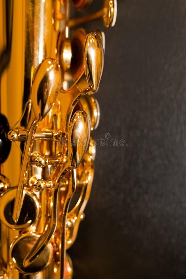 Czerep saksofonowe klapy obraz stock