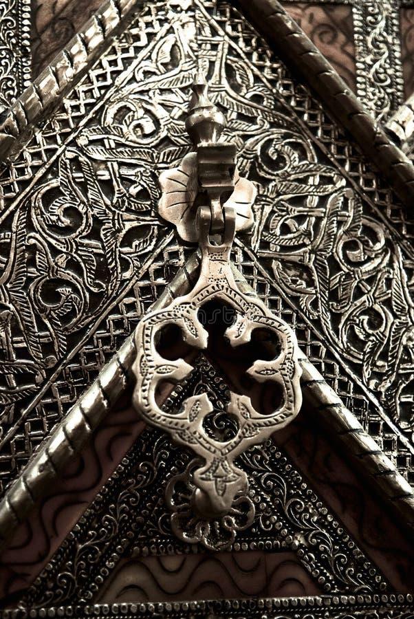 Czerep stalowy drzwi obrazy stock