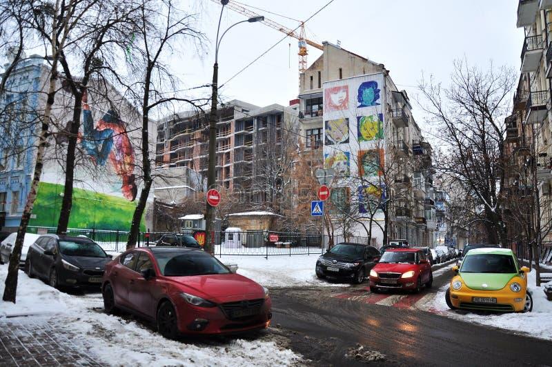 Czerep stare ulicy Kijów fotografia royalty free