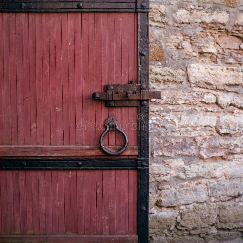 Czerep stary drewniany drzwi fotografia stock