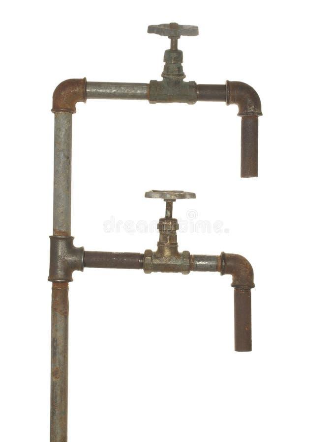 Czerep stary wodny przewód składa się drymby, dopasowania i klapę, zdjęcia royalty free