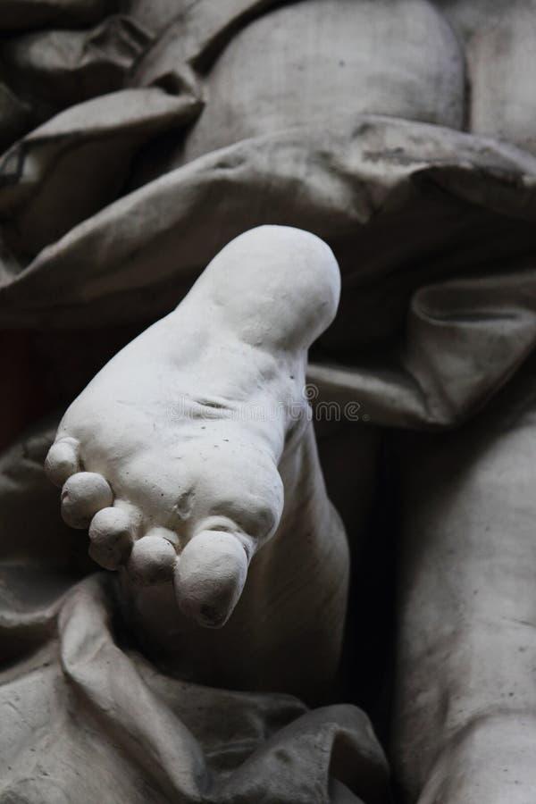 Czerep statuy Achilles pięta zdjęcie royalty free