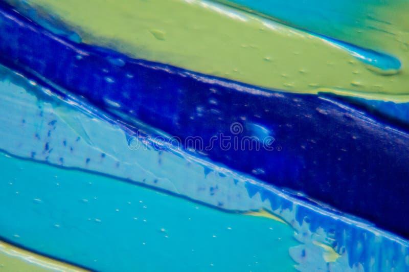 czerep Stubarwny tekstura obraz sztuki abstrakcjonistycznej tło Olej na kanwie Szorstcy brushstrokes farba Zbliżenie paintin obrazy stock