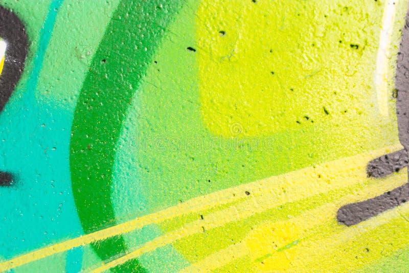 Czerep szczegółowi graffiti rysunek robić z aerosolem maluje na ścianie zdjęcia stock