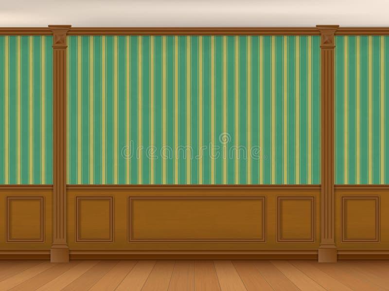 Czerep wewnętrzny gabinet w klasycznym stylu ilustracja wektor