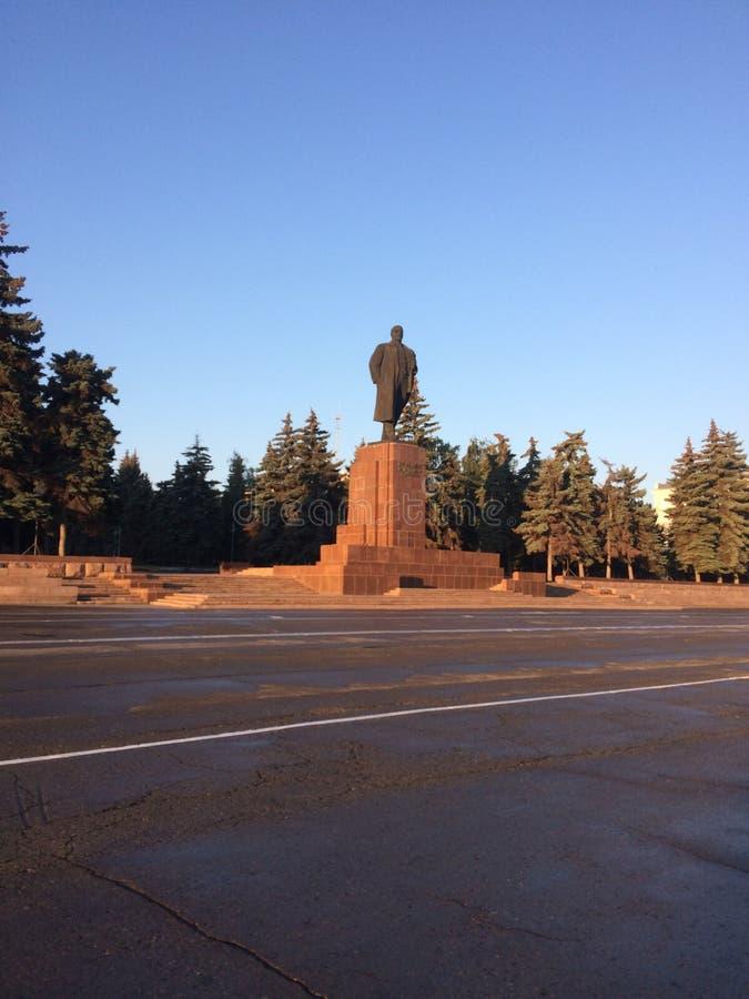 2009 czerepu kaluzhskaya Lenin pomnikowy Moscow kwadrat fotografia royalty free