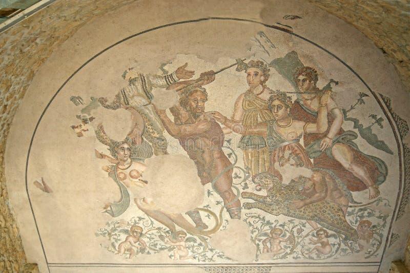czerepu mozaiki rzymska willa zdjęcie stock