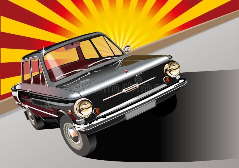 Czernić retro samochód ilustracja wektor