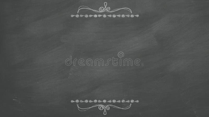 Czerni chalkboard tło ilustracja wektor