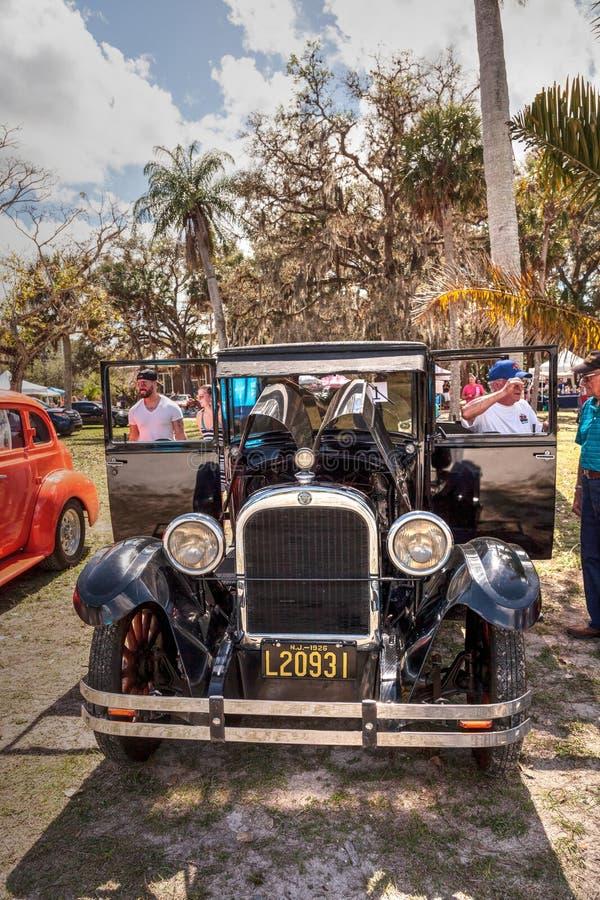Czerni 1929 Dodge bracia Modelują b przy 10th Rocznym Klasycznym samochodu i rzemiosła przedstawieniem zdjęcie royalty free