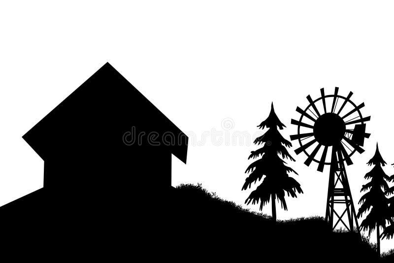 Download Czerni Domowy Silnik Wiatrowy Ilustracji - Ilustracja złożonej z czerń, budowa: 28970062