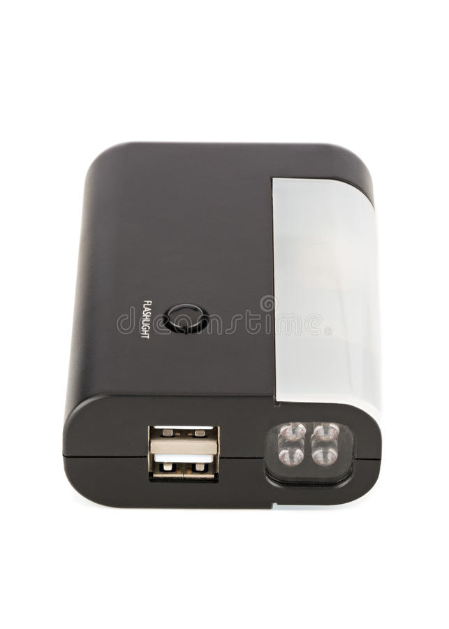Download Czerni DOWODZONA Latarka Z USB Portami Zdjęcie Stock - Obraz złożonej z flesz, dowodzony: 28952292