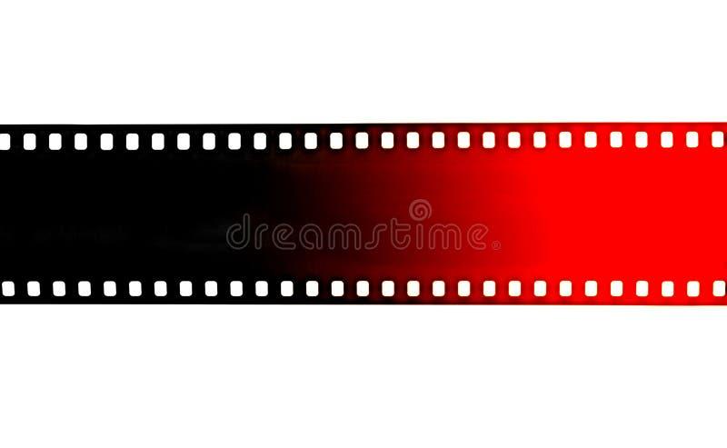 Czerni i czerwieni film obdziera na białym tle obraz stock