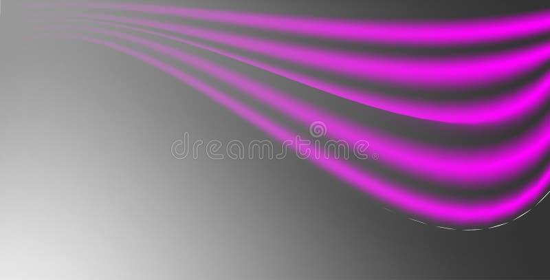 Czerni i neonowej różowej siatki gradientowy wektorowy abstrakcjonistyczny tło z przestrzenią ilustracja wektor