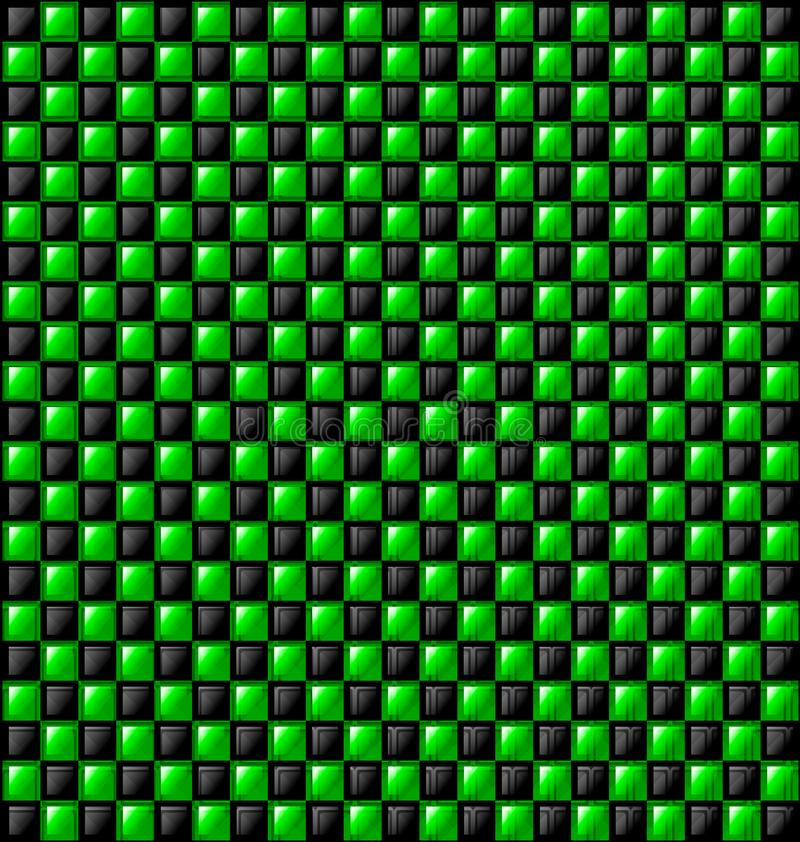 Czerni i zieleni glansowani bloki ilustracji