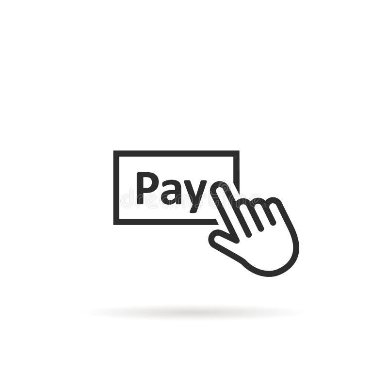 Czerni linii palca cienkie prasy na wynagrodzeniu zapinają ilustracji