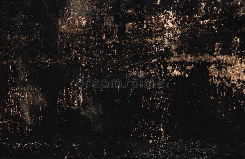 Czerni maluj?c? metal tekstur? z smudges, narysy i br?z o?niedzia?y b?yska fotografia royalty free