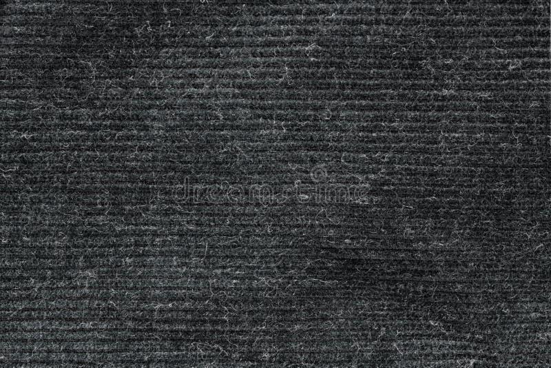 Czerni myjącą dywanową teksturę, bieliźnianej kanwy tekstury biały tło obraz royalty free